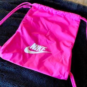 Nike Pink Draw String Bag